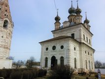 Yuriev Polsky, Russia, Mikhailo-Arkhangelsky monastery, cold spring. Yuriev Polsky, Russia, Mikhailo-Arkhangelsky monastery cold spring royalty free stock photography