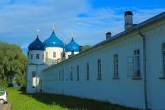 The Yuriev The St. George Monastery. Yurievo, Veliky Novgorod, Russia. Stock Photo