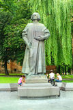 Yuriy Drohobych monument in Drohobych town. Yuriy Drohobych monument the first publisher of a Ukrainian printed text  in Drohobych town Stock Images