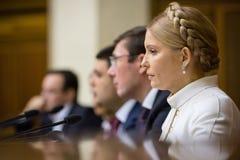 Yuriy Lutsenko e Yulia Tymoshenko Immagine Stock Libera da Diritti