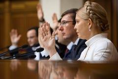 Yuriy Lutsenko e Yulia Tymoshenko Fotografia Stock Libera da Diritti