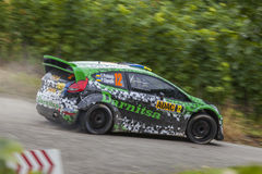 Yuriy Protasov at ADAC Rally Deutschland 2014 Stock Images