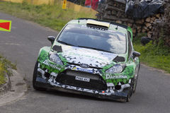 Yuriy Protasov at ADAC Rally Deutschland 2014 Royalty Free Stock Images