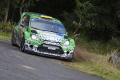 Yuriy Protasov at ADAC Rally Deutschland 2014 Royalty Free Stock Photo