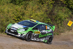 Yuriy Protasov at ADAC Rally Deutschland 2014 Royalty Free Stock Photos