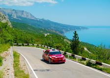 Yuriy Shapovalov on the IRC Prime Yalta Rally 2011 Stock Photos