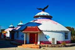 Yurt在蒙古草原 库存照片
