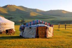 Yurt在蒙古 库存图片