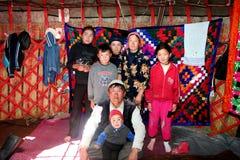 Yurt阵营在中亚 免版税图库摄影