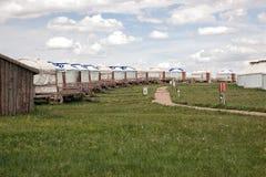 yurt номада gers Монголии Стоковые Изображения