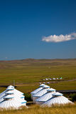 Yurt. Nomad's tent is the national dwelling of Inner Mongolia Royalty Free Stock Photography