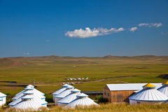 Yurt. Nomad's tent is the national dwelling of Inner Mongolia Stock Photos