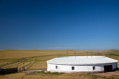 Yurt. Nomad's tent is the national dwelling of Inner Mongolia Stock Image