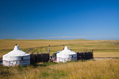 Yurt. Nomad's tent is the national dwelling of Inner Mongolia Royalty Free Stock Images