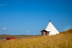 Yurt. Nomad's tent is the national dwelling of Inner Mongolia Stock Photography