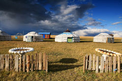 Yurt. Nomad's tent is the national dwelling of Kazakhstan and Kirghizstan peoples Royalty Free Stock Images