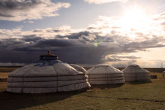 Yurt. Nomad's tent is the national dwelling of Kazakhstan and Kirghizstan peoples Royalty Free Stock Photos