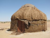 Yurt. In the middle of desert Stock Photo