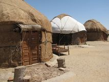 Yurt. In the middle of desert Royalty Free Stock Images