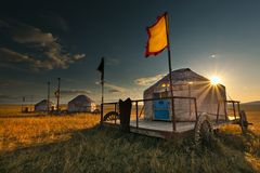 Yurt. House which chinese the mongols inhabits,yurt Stock Images