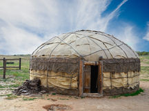 Yurt. Traditional mongolian yurt made of animal skins Stock Images