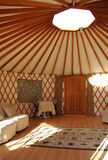 Yurt. Interior view of comfortable yurt Stock Photo