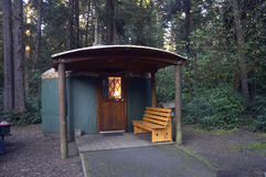 Yurt. In Oregon State Park stock images