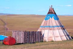 Yurt. House which Chinese the Mongols inhabits --Yurt Stock Photos