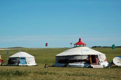 Yurt. House which Chinese the Mongols inhabits --Yurt Royalty Free Stock Photos
