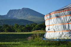 Yurt with Ben Nevis in background Stock Images