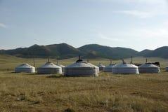 Yurt camp in Mongolia Stock Photos