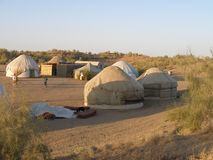 Yurt camp in Uzbekistan Royalty Free Stock Photography