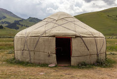 Yurt in Central Asian Veld Stock Photo