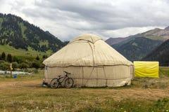 Yurt in Centrale Aziatische Veld royalty-vrije stock foto