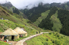 Yurt chez le Xinjiang photographie stock