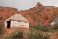 Yurt da montanha de Quirguizistão fotos de stock royalty free