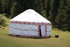 Yurt da montanha de Quirguizistão fotos de stock