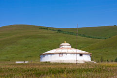 Yurt dans la prairie Image libre de droits