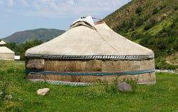 Yurt de la tienda del campo de Ger del Kazakh imágenes de archivo libres de regalías