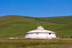 Yurt in de weide Royalty-vrije Stock Afbeelding
