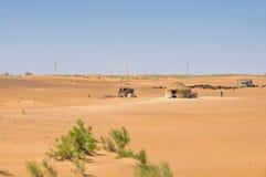 Yurt in desert. Yurt in the desert of Uzbekistan, central Asia stock photo