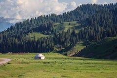 Yurt di Kyrghyz Fotografia Stock