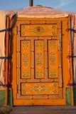 Yurt door in Mongolia Stock Image