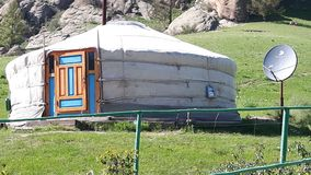 Yurt en Mongolie Photo libre de droits