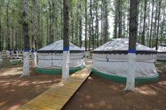 Yurt in genghis khan mausoleum, rgb adobe stock afbeeldingen