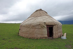 Yurt in the grassland. Stock Photo