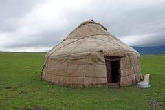 Yurt in the grassland. Stock Photo