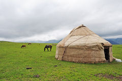 Yurt in the grassland Royalty Free Stock Photos