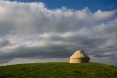 Yurt on the hill Stock Image