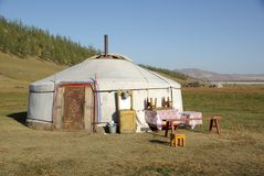 Yurt In Mongolia Royalty Free Stock Image